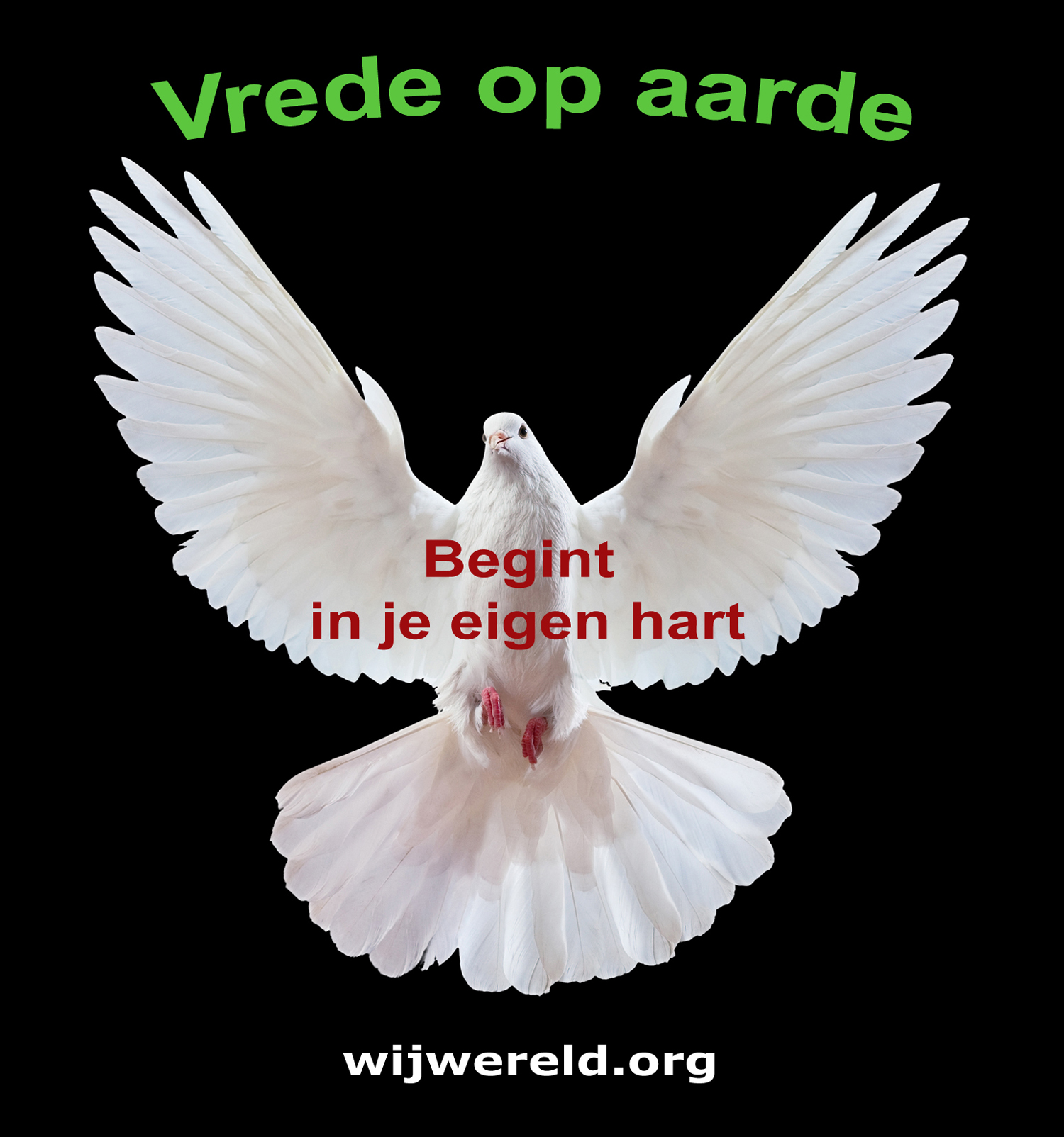 Vrede op aarde begint in je eigen hart